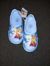 new girls blue frozen  shoes  large 2 3 youth shoes clogs