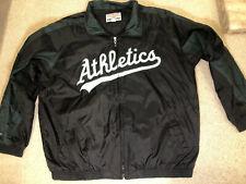Majestic MLB Jacket Oakland Athletics Team Black /Green windbreaker XL