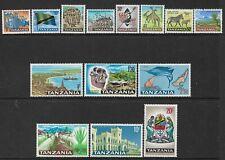 TANZANIA- 1965 - DEFINITIVES SET OF 14 - MM- SG 128/141- CAT £25