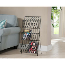 Kings Brand Furniture Black Finish Metal 3 Tier Magazine Rack Stand