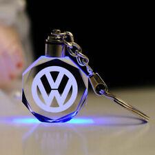 2020 LED 3D VOLKSWAGEN Crystal Keychain Key Ring Keyring Brand New - GIFT BOX