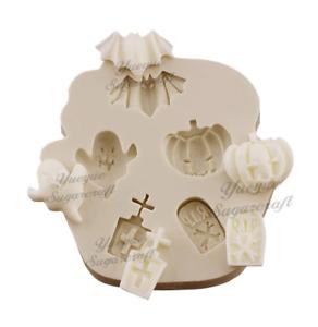 Halloween pumpkin Baking PINK Mould mold Fondant Icing Cupcake  Decoupage M309
