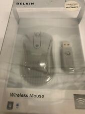 New listing Belkin Wireless Notebook Laptop Comfort Optical Mouse Grey