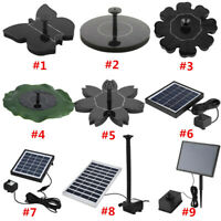 New Floating Solar Power Water Pump for Bird Bath Garden Aquarium Pond Fountain