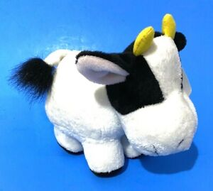 "Russ Berrie Applause Animal Junction Cow Bull 8"" Plush Farm Animal Smiling Toy"