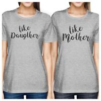 Like Daughter Like Mother Gray Matching Shirts For Mom And Daughter