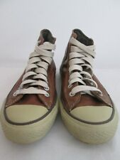 Converse Chuck Taylor All Star Brown Leather High Top Shoe Men's 8.5 Womens 10.5