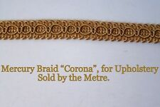 "Gold Upholstery Braid ""Mercury Corona"" 15mm wide (sold by the Metre)"