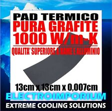 PAD TERMICO PURA GRAFITE 1000 W/m-K 13 x 13 x 0,007 cm PASTA TERMOCONDUTTIVA