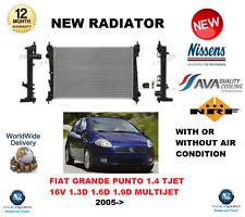 Per FIAT GRANDE PUNTO 1.4 TJET 16V 1.3D 1.6D 1.9D Multifiamme 2005 - > NUOVO RADIATORE
