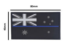 Thin Blue Line Australian Flag PVC Patch 80mm x 45mm - Subdued Finish - New