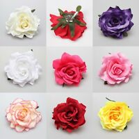 Hot Sale Blooming Rose Flower Wedding Bridal Hair Clip headpiece Brooch Pin NEW