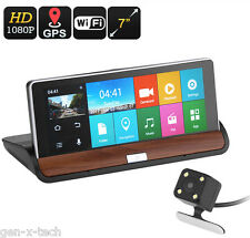 Premium Dashboard Car HD DVR Kit + GPS + Rearview Camera: 7 Inch Touchscreen