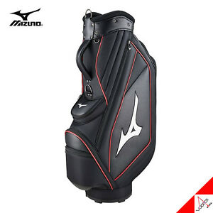 Mizuno 2021 RB Style Men's Golf Cart Caddie Bag 9inch 6.5lbs PE PU-Black/Red