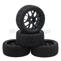 4pcs 12mm Hex RC1:10 On Road Car X Rubber Tyres + Y Shape Wheel Rims