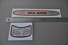 Sea King WATER SLIDE decals Montgomery Wards  outboard  motor  Fox Grips
