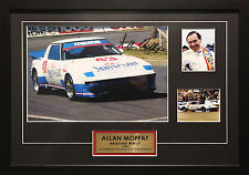 ALLAN MOFFAT MAZDA RX7 1983 SIGNED FRAMED ATCC MOTOR RACING MEMORABILIA