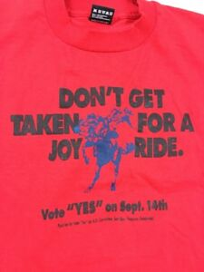 Vintage T Shirt Size XLarge 50/50 Don't Get Taken For A Joy Ride CoWboy Red