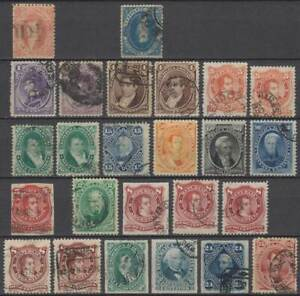 ARGENTINIEN Argentina 1864/80 collection ex first issues statesmen Mi 11-36 o RR