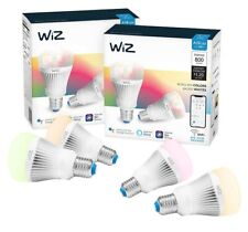 New WiZ WiFi 60 Watt A19 810 Lumens Dimmable Smart Bulb Color 4-pack