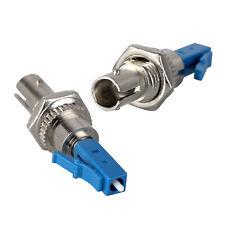 2 x LC Male to ST Female Fiber Optical Converter Plug Adapter Single Mode 9/125