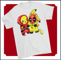 DEADPOOL T-SHIRT Unisex Top Tee PikaPool Mens Funny Parody