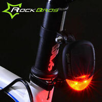 Solar Power Red Led Bicycle Rear Light Bike Tail Lights Taillight Flashing Lamp