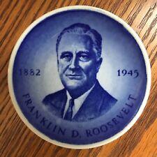 Royal Copenhagen, Franklin Roosevelt, Blue and white plate