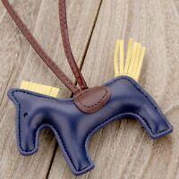 Luxury Handmade Leather Horse Keychain Animal Key Chain Women Bag Pendant Gift