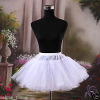 Black White Above Knee Length Crinoline Petticoat Womens Skirts Silps TUTU