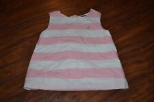 A2- Nautica Pink & White Sleeveless Top Size 6