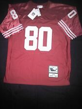 San Francisco 49ers Jerry Rice Sz 50 Mitchell & Ness Authentic Red Jersey NWT