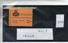GB - Stamp Booklet - (342)  2/-d Booklet - N32P - Trimmed  perfs
