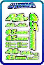 RC AIRCRAFT STICKERS HELI OS ENGINES CAR BUGGY O.S SPEED NITRO PIPE GREEN YELL W