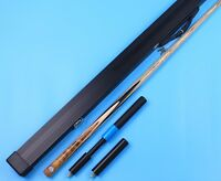Pool Snooker Cue One 1 Piece Handmade Burl Maple Cues n Aluminium Case Extension