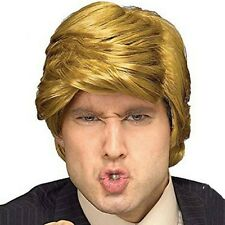 Donald Trump Wig Adult Gold Artificial Hair Costume Accessory Cool Billionaire