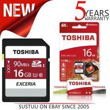 Memory card SDHC Toshiba per cellulari e palmari con 16 GB di archiviazione
