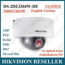 US Stock Hikvision DS-2DE3304W-DE 3MP P&P Mini PTZ IP66 4X Zoom Network Camera