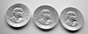 THREE SILVER 1966 EIRE IRELAND TEN SHILLINGS COINS - PADRAIG PEARSE IRISH COIN