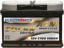 Electronicx Solar Edition Battery AGM 100AH 12V Solar Supply Solar Battery