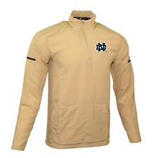 Notre Dame Fighting Irish NCAA Adidas Men's 2018 Sideline Sand L/S Woven Knit