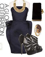 Stella Mccartney Blue Satin Strapless Dress SZ 46 = US 8-10; SZ 36 = US 0-2 -NWT