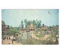 Disneyland Vintage Unused Postcard 1955 Main St USA Town Square P12287