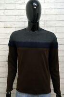 Maglione Maglia Pullover Cardigan Grigio Uomo JECKERSON Taglia M Sweater Slim