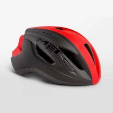 Road Bike Cycle Helmet Met Strale Black - Red Size 56 58 Cm