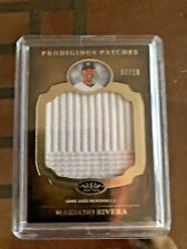 2012 MARIANO RIVERA TOPPS TIER ONE PRODIGIOUS PATCH GAME USED JUMBO RELIC 2/10