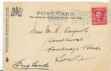 Genealogy Postcard - Family History - Asquith - Cambridge Rd - Southport BH4835