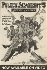 14/1/89Pgn16 Advert: On Video 'police Academy 5. Assig Nt Miami Beach' 7x5