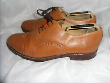SAMUEL WINDSOR MEN'S TAN LEATHER LACE UP BROGUES SHOES SIZE UK 9.5 EU 43.5 VGC