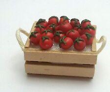 caisse avec tomates miniatures,maison de poupée,vitrine,alimentation  G-T.A